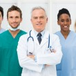 Foto Stock: Happy Team Of Doctors