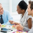 Discussing of Work at Lunch — Stock Photo