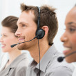 Royalty-Free Stock Photo: Happy Telephone Operators