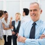 Happy Senior Businessman — Stock Photo