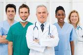 Doktorların mutlu takım — Stok fotoğraf