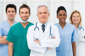 Glada team av läkare — Stockfoto
