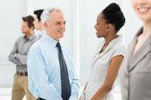 Biznesowe rozmowy z siebie — Zdjęcie stockowe
