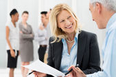 Business Discussing Together — Stock Photo
