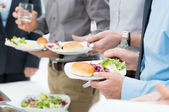 Business Lunch Detail — Stock Photo