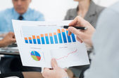 Close-up Of Business Graph — Stockfoto