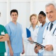 Doctors team at hospital — 图库照片