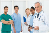 Doctors team at hospital — Stock Photo