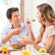 Couple Enjoying Breakfast — Stock Photo