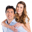 Happy Couple Piggyback — Stock Photo #28206719