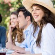 Young Woman Enjoying With Her Friends — Stock Photo