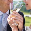 Married Couple Drinking Champagne — Stock Photo
