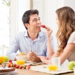Couple having breakfast — Stock Photo #28206791