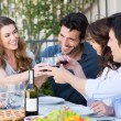 Group Of Friends Toasting Wine Glass — Stock Photo #28206915