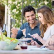 Happy Friends Having Lunch — Stock Photo #28206955