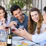Friends Toasting Wine Glass — Stock Photo