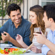 Group Of Friends Having Lunch — Stock Photo