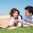 Stock Photo: Young Couple Having Picnic