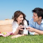 Young Couple Having Picnic — Stock Photo