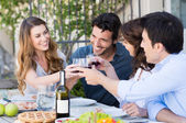 Group Of Friends Toasting Wine Glass — Stock Photo