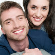 Stock Photo: Loving couple smiling