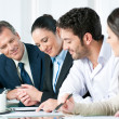 Business team working together — Stock Photo