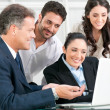 Business teamwork at office — Stock Photo