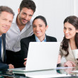 Stock Photo: Business team satisfaction