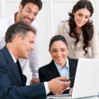 Stock Photo: Business team working together