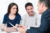 Consulta de planificación financiera — Foto de Stock