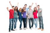 Succesvolle lachende mensen — Stockfoto