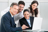 Proud satsfied business team — Stock Photo