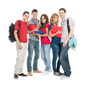 Happy students together — Stock Photo