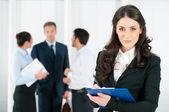 Job interview recruitment — Stock Photo