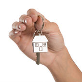 Hand Holding House Key — Stock Photo