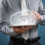 Cloud computing and wifi — Stock Photo