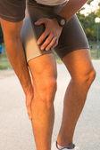 Male Having Cramp In Leg — Stock Photo