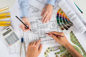 Two Architect Working Together — Stock Photo