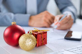 Christmas Business — Stock Photo