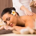 Woman Having A Back Oil Massage — Stock Photo