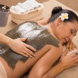 Stock Photo: Green Clay Treatment At Spa