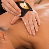 Candle Massage On Back — Stock Photo