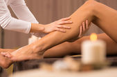Leg Massage At Spa Salon — Stock Photo