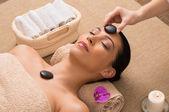 Relaxing Hot Stone Massage — Stock Photo