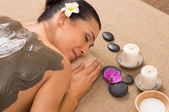 Green Clay Treatment At Spa — Stock Photo