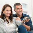 Couple Watching Television — Stock Photo #39422827