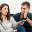 Bored Couple Watching Tv — Stock Photo #39422873