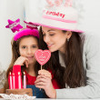 Mother And Daughter Celebrating Birthday — Stock Photo #39423065