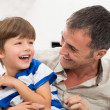 Cheerful Father And Son — Stock Photo