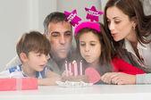 Family Celebrating Birthday — Stock Photo